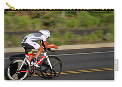 Carry-all Pouch featuring the photograph Cycling Time Trial by Kevin Desrosiers