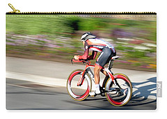 Carry-all Pouch featuring the photograph Cyclist Time Trial by Kevin Desrosiers