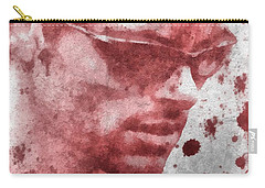Cyclops X Men Paint Splatter Carry-all Pouch by Dan Sproul