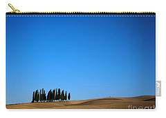 Cypress Forest In The Barren Rolling Hills Of Tuscany Carry-all Pouch by IPics Photography