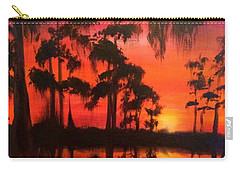 Cypress Swamp At Sunset Carry-all Pouch