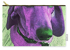 Dachshund - Purple People Greeter Carry-all Pouch by Rebecca Korpita