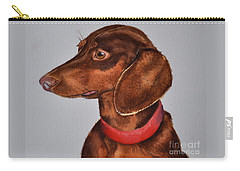 Dachshund Watercolor Painting Carry-all Pouch