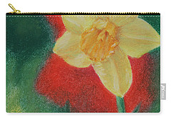 Carry-all Pouch featuring the pastel Daffodil And Poppies by Marna Edwards Flavell