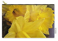 Carry-all Pouch featuring the photograph Daffodil Burst by Diane Alexander