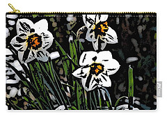 Carry-all Pouch featuring the digital art Daffodil by David Lane
