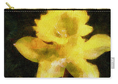 Carry-all Pouch featuring the painting Daffodil by Greg Collins