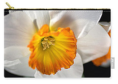 Daffodil In White Carry-all Pouch by Joy Watson