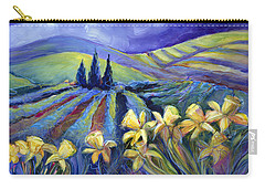 Daffodils And Stormclouds Carry-all Pouch