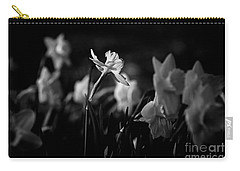 Daffodils In Black And White Carry-all Pouch