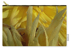 Carry-all Pouch featuring the photograph Dahlia Dew Yellow by Susan Garren