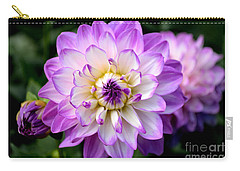 Dahlia Flower With Purple Tips Carry-all Pouch