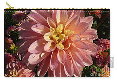 Carry-all Pouch featuring the photograph Dahlia October by Susan Garren