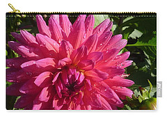 Carry-all Pouch featuring the photograph Dahlia Pink by Susan Garren