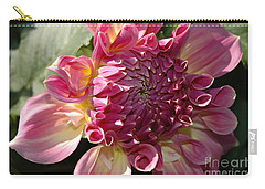 Carry-all Pouch featuring the photograph Dahlia V by Christiane Hellner-OBrien