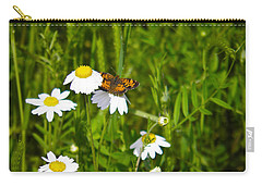 Daisey And Butterfly Carry-all Pouch