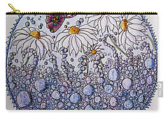 Daisies And A Butterfly Carry-all Pouch