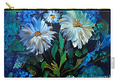 Daisies At Midnight Carry-all Pouch