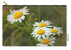 Daisies Carry-all Pouch by Lena Auxier