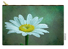 Daisy In The Rain Carry-all Pouch