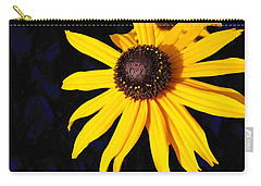 Daisy On Dark Blue Carry-all Pouch