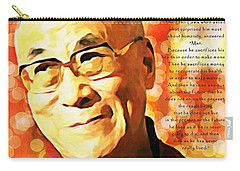 Dali Lama And Man Carry-all Pouch by Barbara Chichester