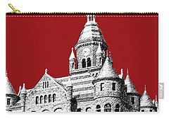 Dallas Skyline Old Red Courthouse - Dark Red Carry-all Pouch