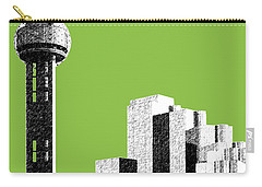 Dallas Skyline Reunion Tower - Olive Carry-all Pouch