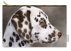 Dalmatian Puppy Painting Carry-all Pouch by Rachel Stribbling