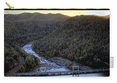 Carry-all Pouch featuring the photograph Dam Across The River by Jonny D