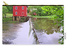 Dam At Starrs Mill Carry-all Pouch by Gordon Elwell