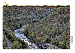 Carry-all Pouch featuring the photograph Dam In The Forest by Jonny D