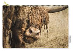 Highland Cow Damn Fleas Carry-all Pouch