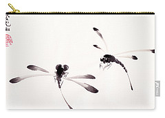 Dance Of The Dragonflies Carry-all Pouch by Oiyee At Oystudio