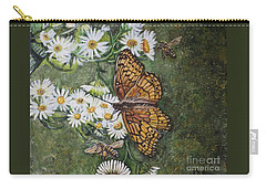 Carry-all Pouch featuring the painting Dance With The Daisies by Kimberlee Baxter