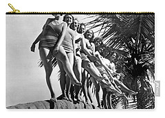 Dancers Practice On Palm Tree Carry-all Pouch