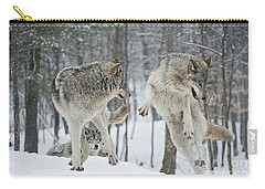 Carry-all Pouch featuring the photograph Dances With Wolves by Wolves Only