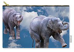 Dancing Elephants Carry-all Pouch by Jean Noren