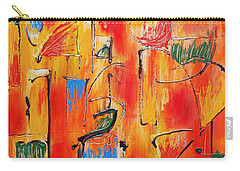 Carry-all Pouch featuring the painting Dancing In The Heat by Jason Williamson