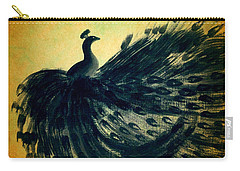 Dancing Peacock Gold Carry-all Pouch by Anita Lewis