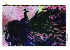 Dancing Peacock Rainbow Carry-all Pouch by Anita Lewis