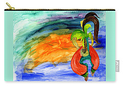 Carry-all Pouch featuring the painting Dancing Tree Of Life by Mukta Gupta