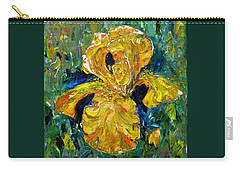 Dancing Yellow Iris Carry-all Pouch