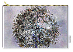 Carry-all Pouch featuring the photograph Dandelion Blue And Purple by Kathy Barney