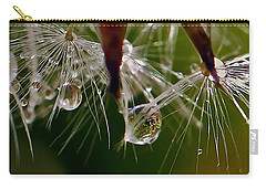 Dandelion Droplets Carry-all Pouch by Suzanne Stout