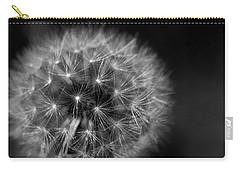 Dandelion Fluff Carry-all Pouch by Rebecca Davis
