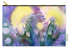 Carry-all Pouch featuring the painting Dandelions by Teresa Ascone