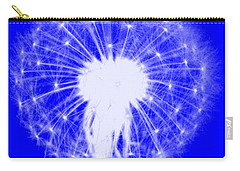 Carry-all Pouch featuring the digital art Dandylion Blue by Clayton Bruster