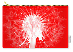 Carry-all Pouch featuring the digital art Dandylion Red by Clayton Bruster