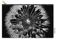 Carry-all Pouch featuring the digital art Dandylion White On Black by Clayton Bruster